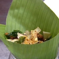 Recipe of Soft Shell Crab, Flame Roast Coconut Chips, Crispy Curry Leaves