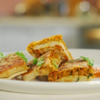 Soya Murtabak With Tomato-Lemon Sauce