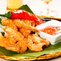Spicy Prawns with Sweet Dipping