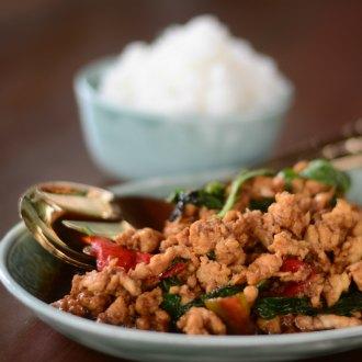 Kai  Kraphao or Stir Fried Chicken With Basil