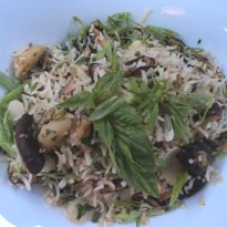 Shitake Fried Rice with Water Chestnuts