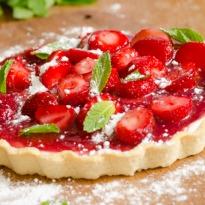 Strawberry Flan