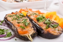 Stuffed Aubergines with Lamb