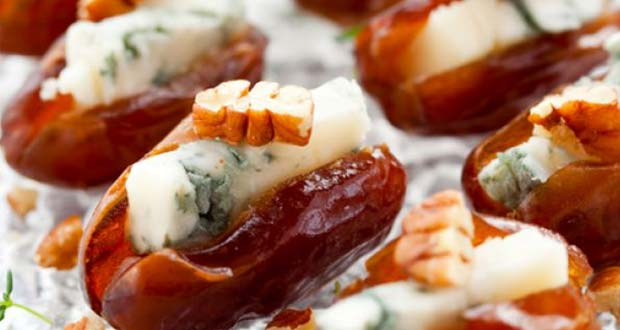 Stuffed Dates with Blue Cheese