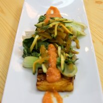 Recipe of Teriyaki Pineapple with Raw Mango Slaw
