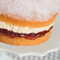 Victoria Sponge with Plum Jam Recipe