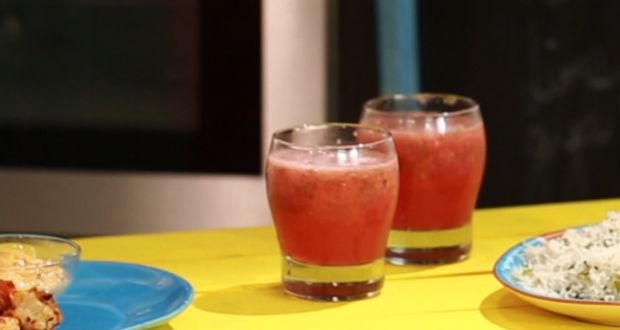 Recipe of Watermelon, Mint, Lime & Ginger Slushie (My Yellow Table)