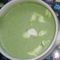 West Indian Avocado Soup with Limon Crema