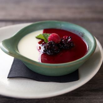 White Chocolate Parfait with Berry Compote