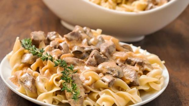 Whole Wheat Pasta in Mushroom Sauce