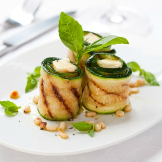 Recipe of Zucchini Wrapped Tomato and Basil Risotto
