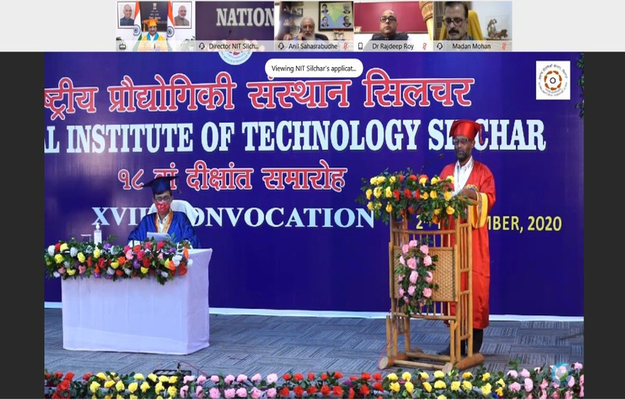 NIT Silchar Hosts 18th Convocation Virtually; Education Minister Addresses Students