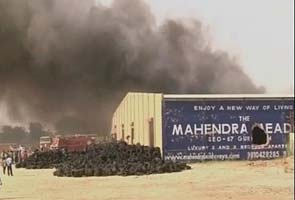 Tyre warehouse gutted in fire