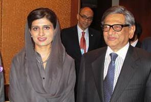 SM Krishna may meet with Pakistani counterpart Hina Rabbani Khar on Sunday