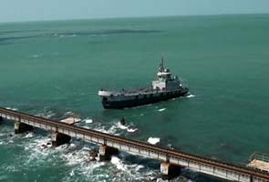 Trial run conducted on damaged railway bridge near Pamban in Tamil Nadu