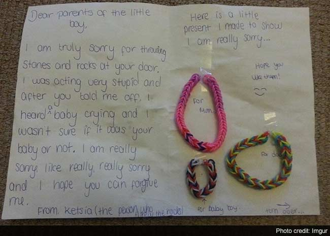 This Little Girls Apology Letter to Her Neighbours Will Restore