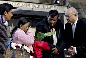 Anuj Bidve's parents see his body at a funeral parlour in UK