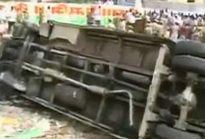 Chennai bus accident: A miraculous escape - NDTV at Ground Zero