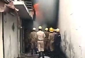 Fire at a factory in Delhi's Mayapuri area
