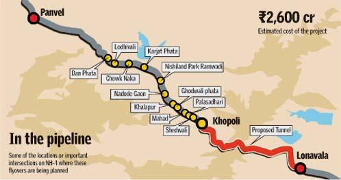 pune to mumbai road map 15 Flyovers On Old Mumbai Pune Highway To Cut Travel Time pune to mumbai road map