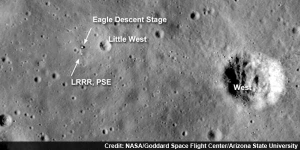 NASA photos reveal fate of flags left on the moon