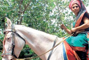 Woman auto driver rode a horse in bid to run for vice-president