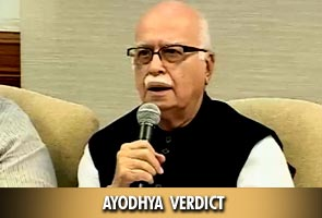 Ayodhya Verdict: Feel vindicated about rath yatra, says Advani