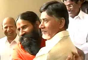 Baba Ramdev meets TDP chief Chandrababu Naidu
