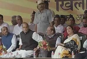 No power can stop Congress government in Delhi from losing the election: Rajnath Singh at rally
