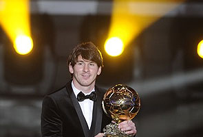 Lionel Messi wins FIFA world player award