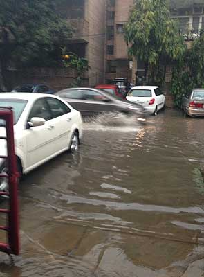 Delhi's 'Winter Rain'. Courtesy: NDTV