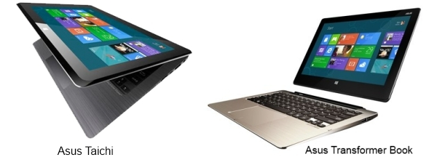 Asus announces dual-display Taichi, detachable laptop Transformer Book