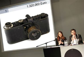 Auction house: Camera fetches record euro1.3 million