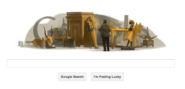 Archaeologist Howard Carter's birthday Google doodle