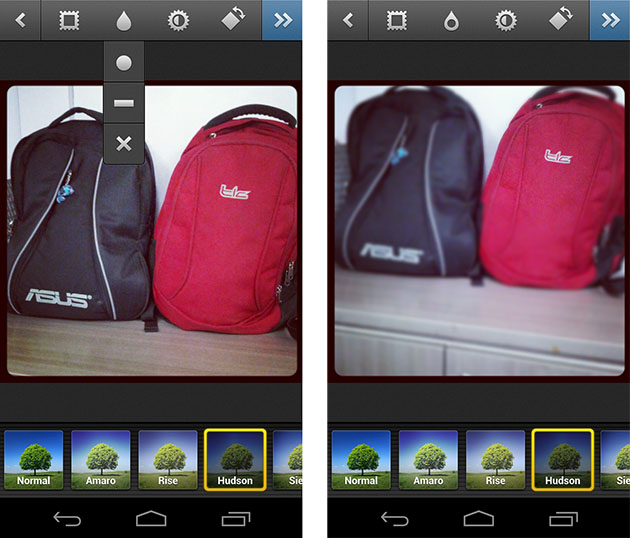 Instagram for Android updated to version 1 1 0, includes tilt-shift