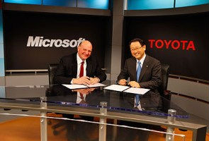 Microsoft to power Toyota cars on Internet highway