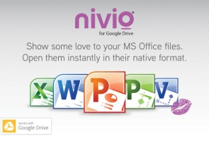 nivio launches app to access MS Office files on Google Drive