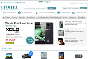 Croma enters online shopping