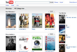 YouTube expands movie rental service to Canada