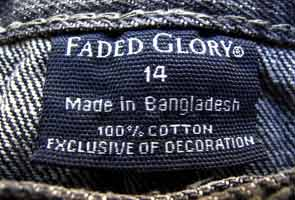 Bangladesh factory banned by Wal-Mart still makes Wrangler shirts