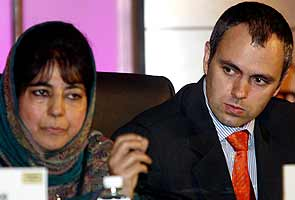 Omar Abdullah With Arch Rival Mufti
