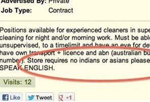 'No Indians or Asians' job ad triggers outrage in Australia