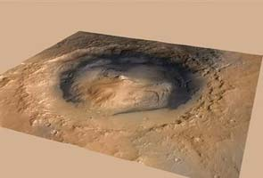 NASA rover Curiosity shoots a Mars rock with laser