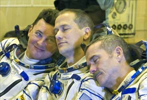 Rocket with three astronauts takes off for International Space Station