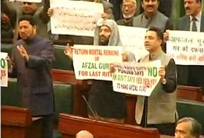 Uproar in Jammu and Kashmir assembly over Afzal Guru's hanging