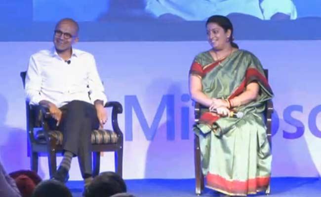 Union Minister Smriti Irani and Microsoft CEO Satya Nadella Address Students: Highlights