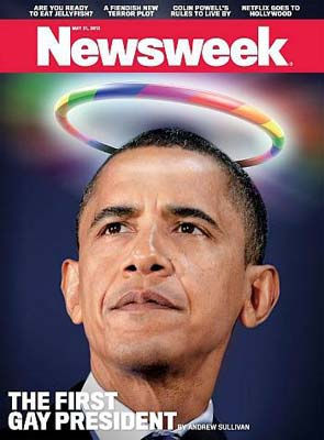Obama on Newsweek magazine cover as 'First Gay President'