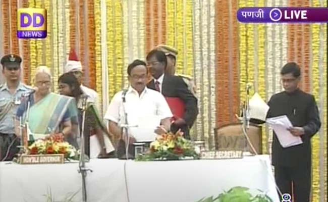 Laxmikant Parsekar Sworn-In as Goa's Chief Minister