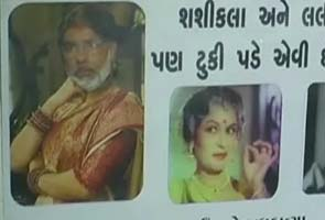 Anti-Narendra Modi posters show him with Bollywood villainesses
