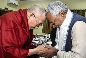 Dalai Lama holds special prayer at Nitish Kumar's residence